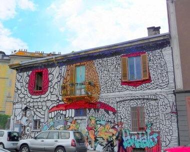 Milano: i navigli: murales