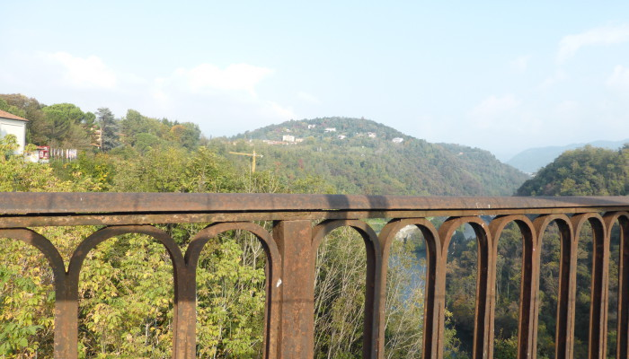 panorama dal ponte di Paderno d'Adda (Lc)
